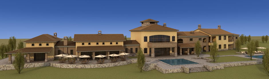 View of the 1150 Luxury Hotel, Ikal Mendoza in Argentina
