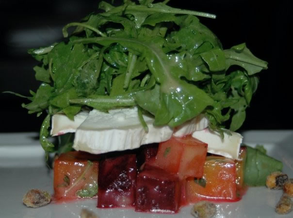 Heirloom Beet Salad at Branch Water Tavern Restaurant pairs well with the Ikal 1150 Pinot Noir