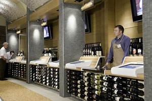 Tasting Stations at Cork Wines in Dallas